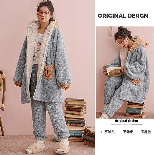 Bayrick Pijama Mujer Algodon Invierno,Conjunto de Pijamas de otoño ...