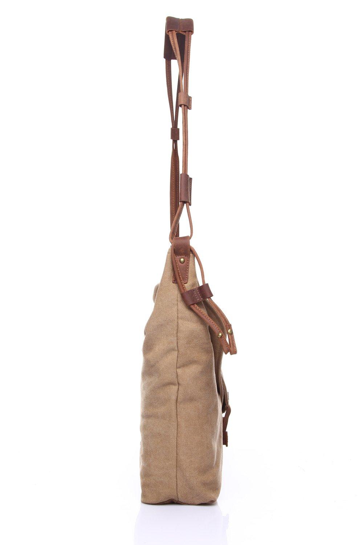 Dig dog bone Mens Messenger Bag Retro Canvas Bag Shoulder Crazy Horseskin Mens Bag Art Trend Unisex Color : Brown, Size : M