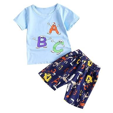 4bc703889ea4 Amazon.com  Dsood Baby Boys Clothes Set Boy Short Sleeve T-Shirt ...