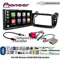 Volunteer Audio Pioneer AVH-2440NEX Double Din Radio Install Kit with Apple CarPlay, Android Auto and Bluetooth Fits 2012-2015 Fiat 500 (Black)