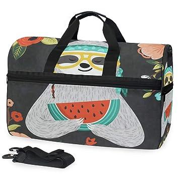 Amazon.com: Duffle - Bolsa de gimnasio con compartimento ...