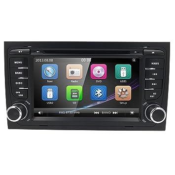 Navegador GPS de 7 Pulgadas para Audi a4 s4 rs4 b6 b7 Asiento exeo Auto DVD