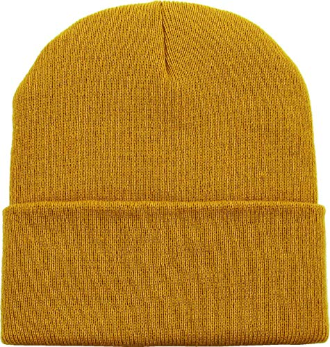 (SKIHAT-Long Tim Thick Beanie Skully Slouchy & Cuff Winter Hat Made in USA)