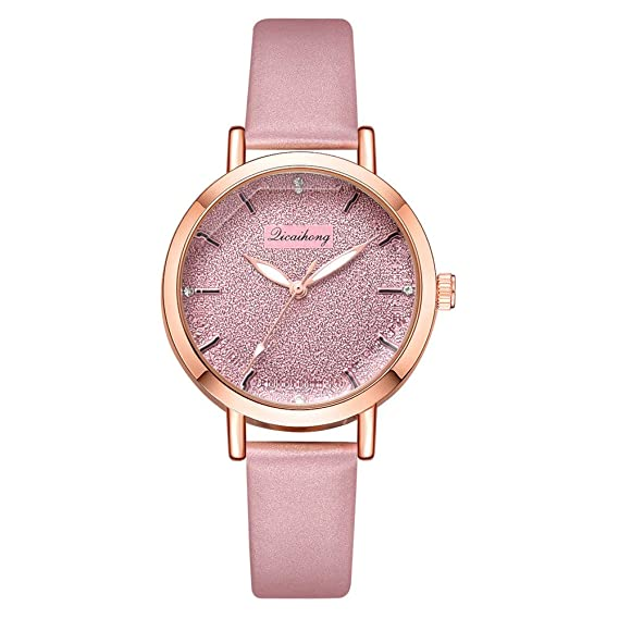 Mostfa Reloj de Pulsera para Mujer, de Cristal, Moderno, de Piel, Convexo, número Irregular, Cielo Estrellado: MOSTFA: Amazon.es: Relojes