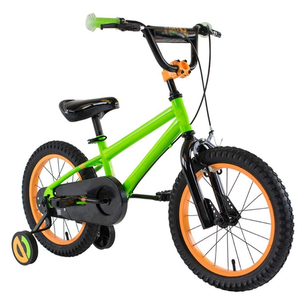 vert 14in Axdwfd Vélos Enfants Bicyclettes pour enfants12   14 16 18 Pouces pour garçons et Filles à vélo, adaptés aux Enfants de 2 à 9 Ans