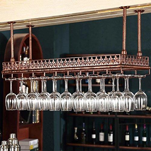 - Warm Van 47.2''L High Capacity Kitchen Office Bar Wall Mount Wine Rack,Tableware Bottle Organizer Storage Iron Hanging Shelves,Upside Down Wine Glass Holder,Stemware Goblet Drying Shelf(Bronze)