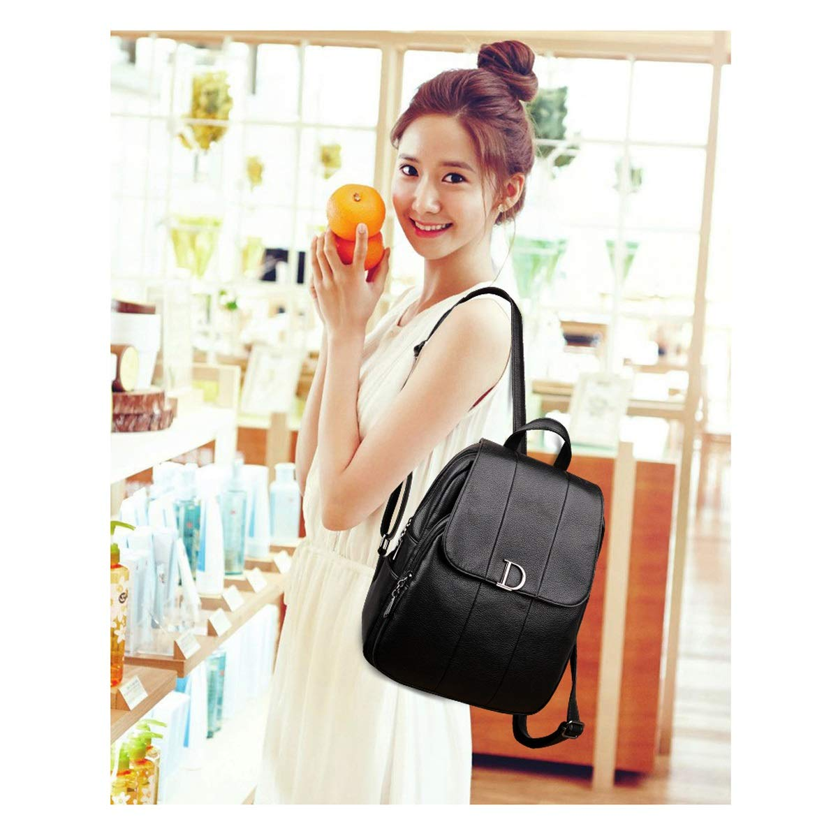 PU Leather ZHICHUANG Girls Multipurpose Backpack for Daily Travel//Outdoor//Travel//School//Work//Fashion//Leisure Black//red//Blue//Brown Large Capacity for Women /& Men