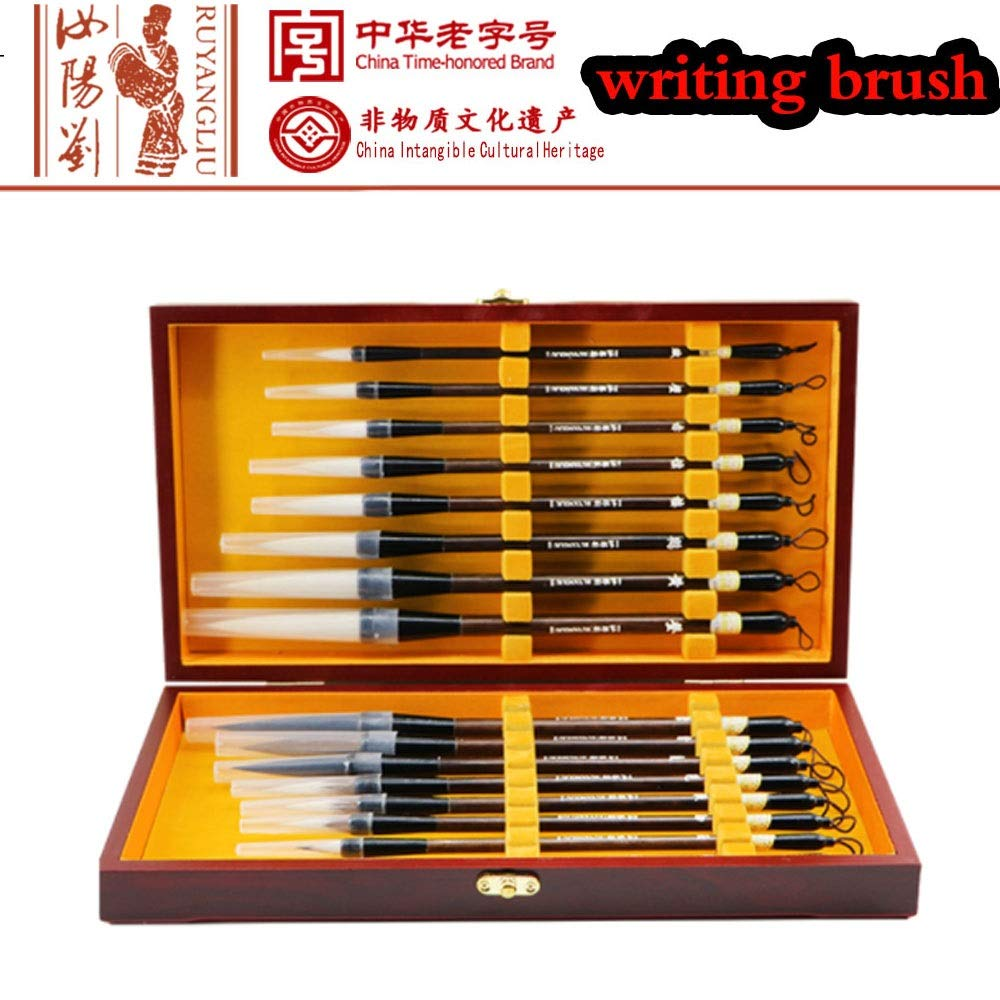 Chinese Calligraphy Brush, Kanji, Sumi Water Writing Painting Gift Set Wolf Hair,Rabbit Hair,Wool(16 pc) by WWY