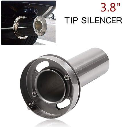 Round Insert 3.5/'/' 4/'/' 4.5/'/' Removable Tip Muffler Exhaust Silencer For Honda