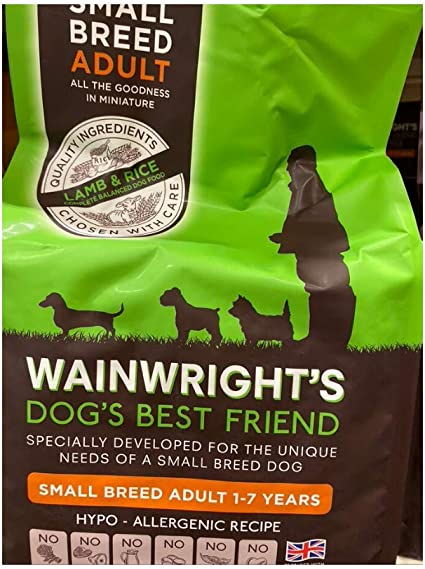 Wainwright S Adult Small Breed Complete Lamb And Rice 2kg Hypoallergenic Wheat Free Dry Dog Food Amazon Co Uk Pet Supplies