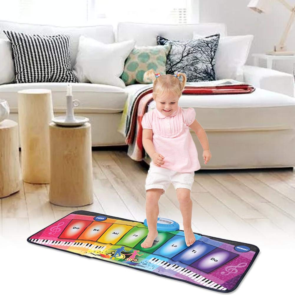 garyone-Game Dance mat Piano mat Children's Music Rainbow Keyboard Playmat Gift for Kids and Adult by garyone (Image #4)