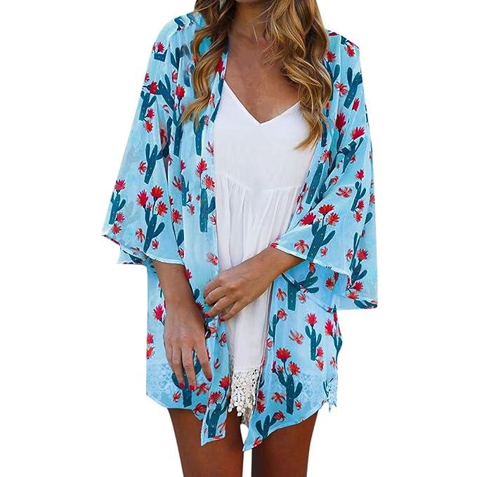 3794f3536a62 BBsmile Pareos Playa Mujer 2019 - Suelto Verano Estampado Floral ...