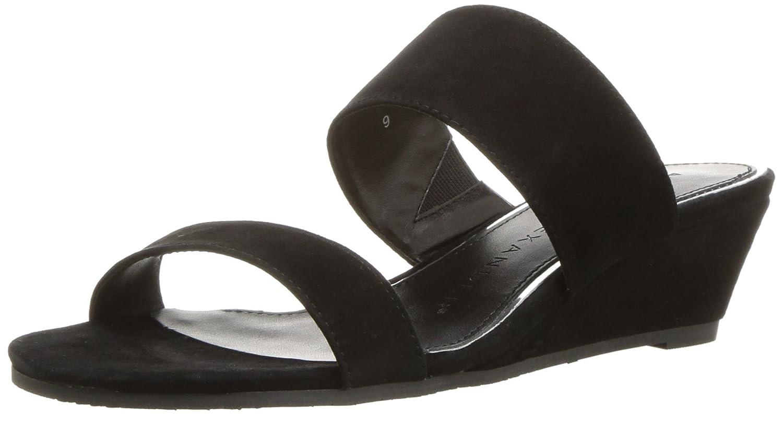 Athena Alexander Women's Burlington Wedge Sandal B079HS9YQ2 5.5 B(M) US|Black Suede