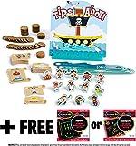 Tips Ahoy: Pirate Ship Balance Family Game + FREE Melissa & Doug Scratch Art Mini-Pad Bundle [4535]