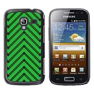 LECELL--Funda protectora / Cubierta / Piel For Samsung Galaxy Ace 2 I8160 Ace II X S7560M -- Chevron Pattern Art Deco --