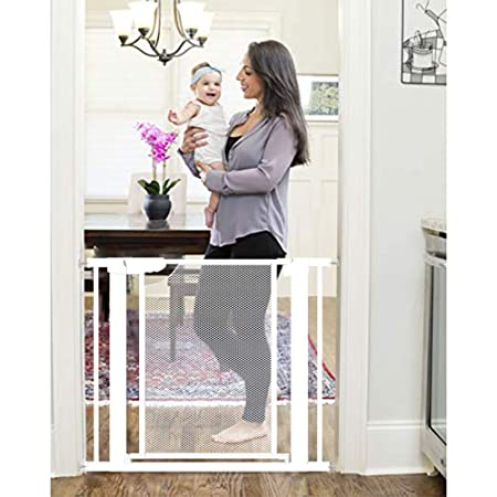 Heele New Design Gate Auto Close Safety Baby Gate,Extra Tall and Wide Child Gate,Extra Wide 29.52 35.03 Easy Walk Thru Durability Pet Gate,Doorways.Baby Safety Gates