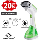 Amazon Price History for:N.ORANIE Portable Garment Steamer for Clothes 15s Fast Heat Up Handheld Powerful Fabric Clothes Steamer 220ml for Home and Travel