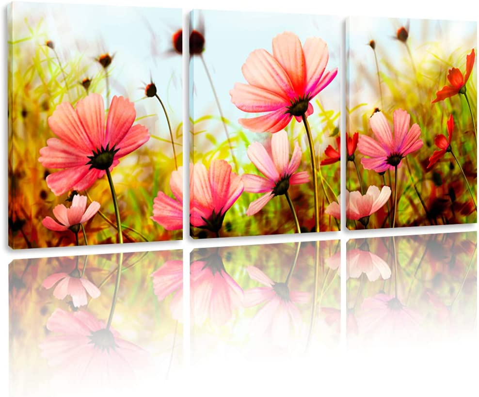 BPAGO Modern Flowers Painting Plateau Gesang Wall Decor Landscape Paintings on Canvas Wall Art for Living Room Bedroom Home Office Bathroom Decoration (48 x 24 inch