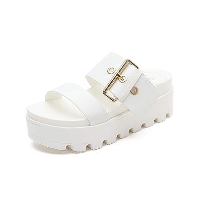 MACKIN J 591-1 Women's Open Toe Platform Slide Sandals   Platforms & Wedges