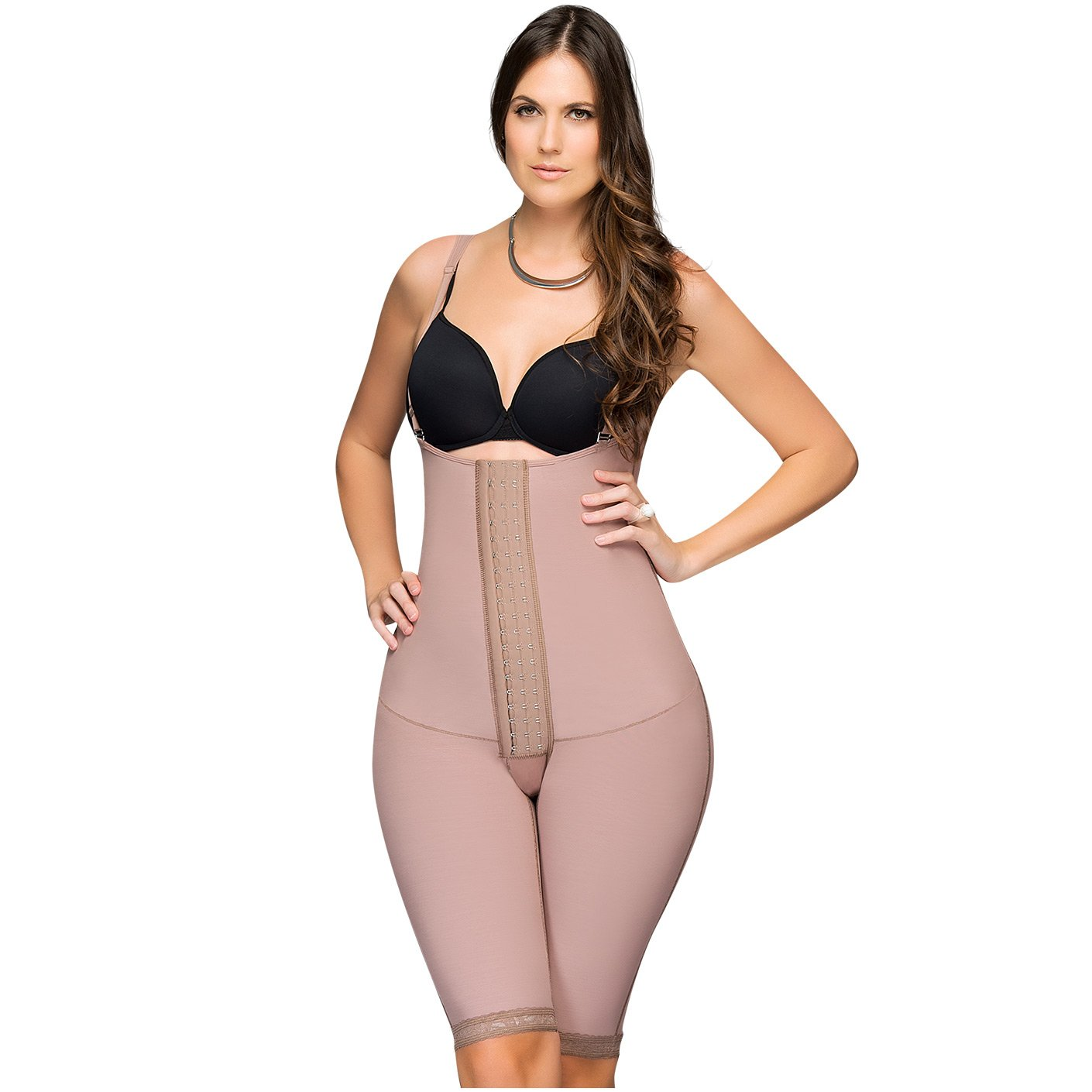 Fajas DPrada 11175 Braless Shapewear Post Surgery Compression Garment Girdle - Cocoa-Optic - M at Amazon Womens Clothing store: