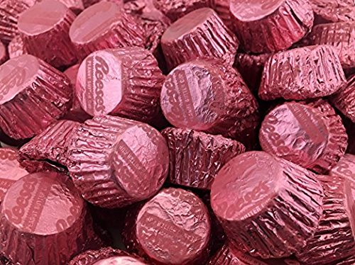 Reeses Miniatures Pink Candy, Peanut Butter Cups in Milk Chocolate (Pack of 2 Pounds) (1 PACK)