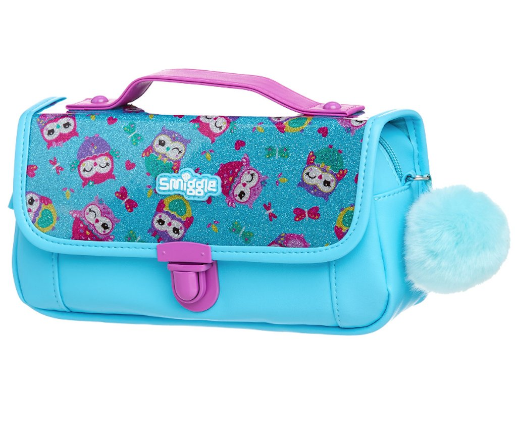 reputable site b4552 46ddf Smiggle Handbag Pencil Case - Sparkle Blue