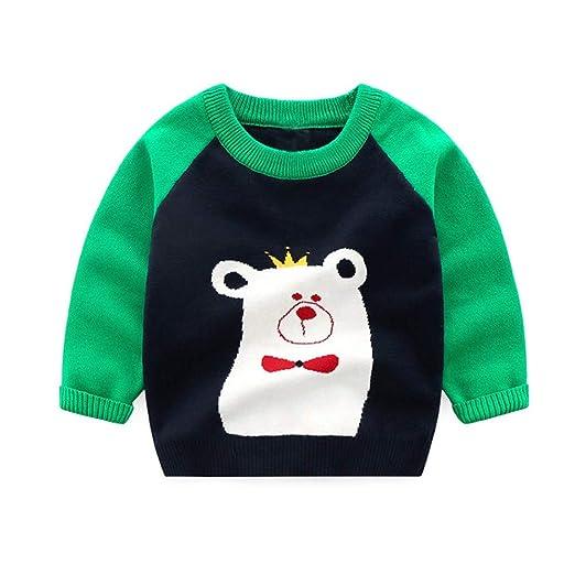 Amazon.com Kimanli Toddler Baby Sweaters, Boys Girls Cool