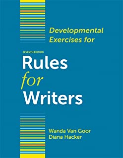 Amazon rules for writers with writing about literature tabbed developmental exercises for rules for writers fandeluxe Choice Image