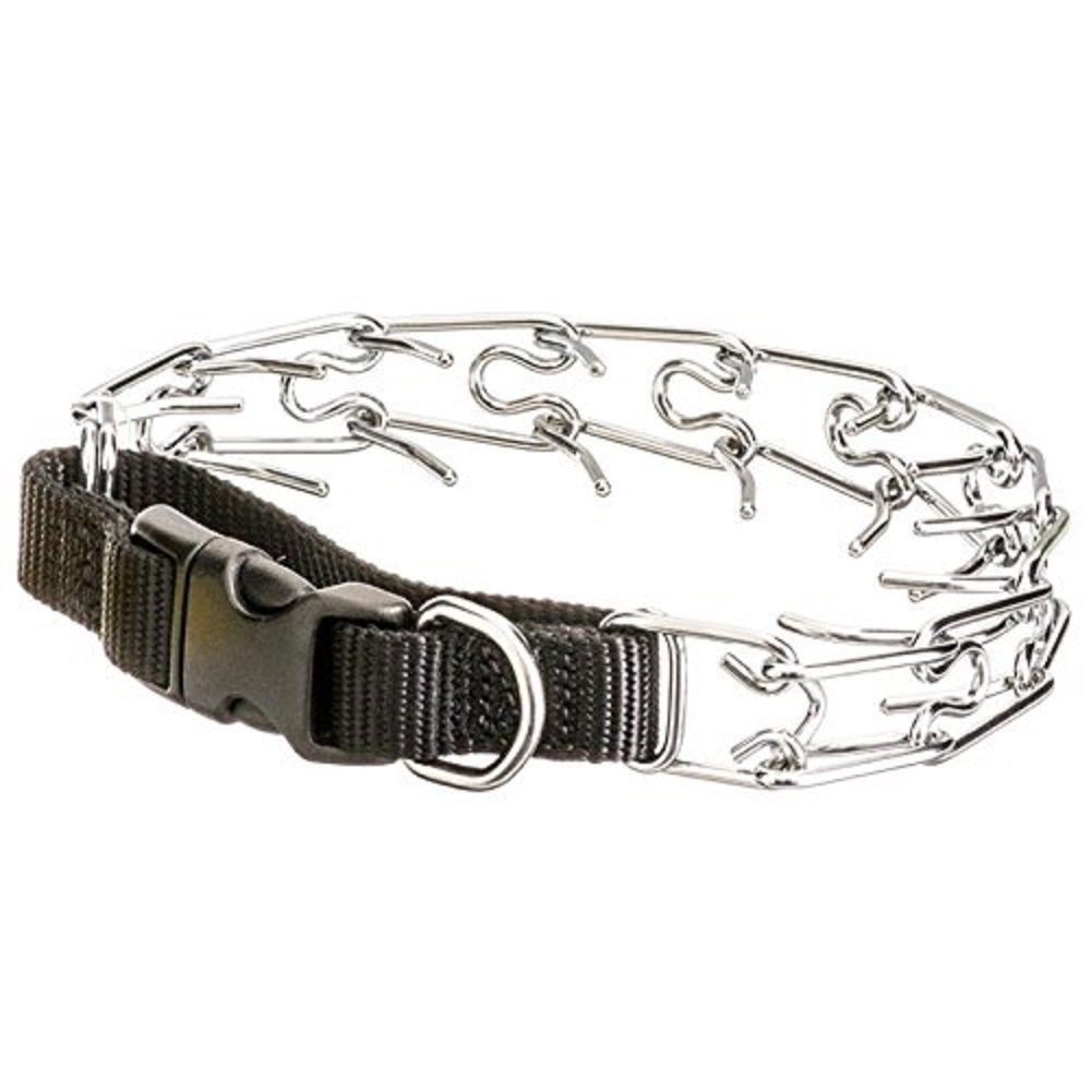 18\ Titan 18  Prong Collar with Nylon Closure Includes 10 Tips For Using a Prong Collar