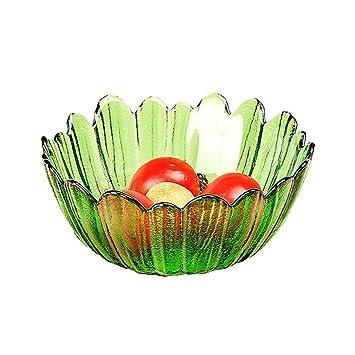 BESTONZON Cuenco de cristal creativo para ensalada de frutas, cuenco para salsa de aperitivos,