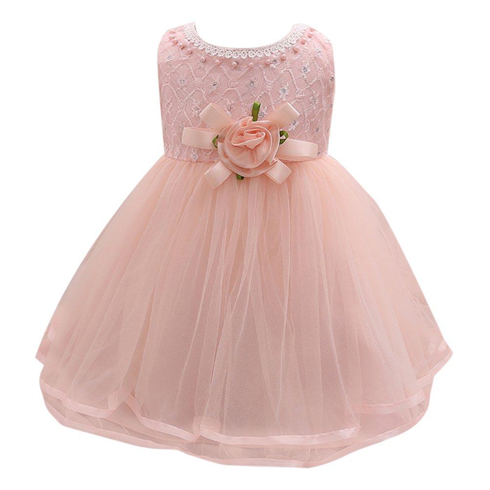 Amazon Zhhlinyuan Newborn Baby Girls Flower Princess Dress Kids Party Wedding Dresses Clothing: Wedding Dresses For Baby Newborn At Reisefeber.org