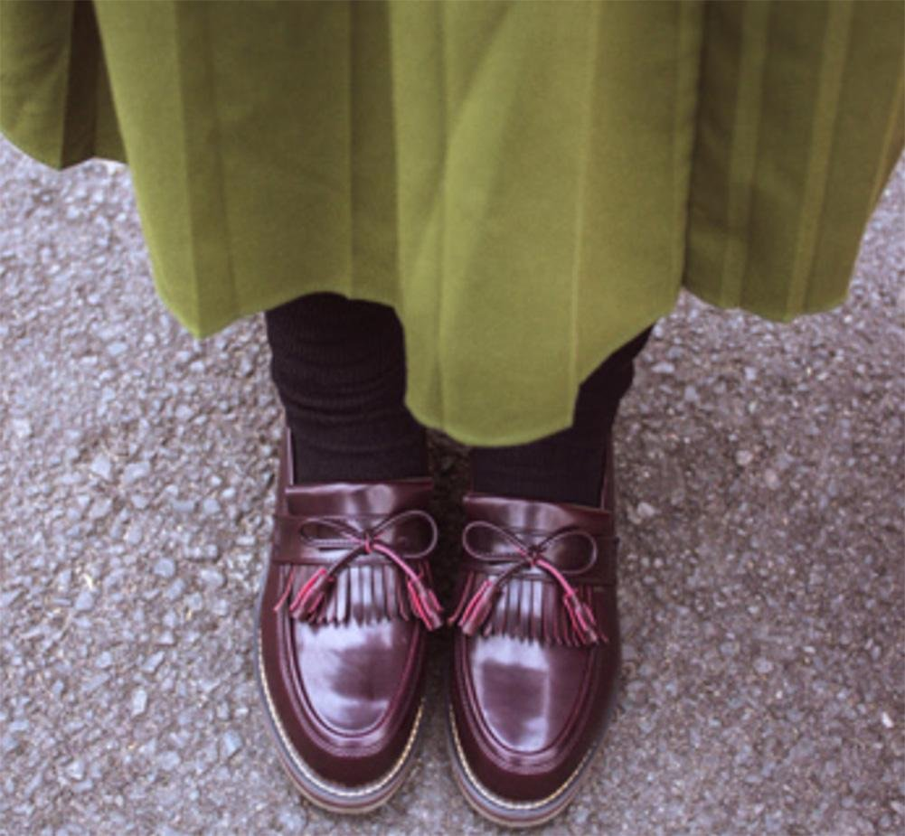 29de9a47 La Sra zapatos retro zapatos de primavera y otoño Colegio viento redondos  escogen los zapatos con los zapatos gruesos Sra. , US7.5 / EU38 / UK5.5 /  CN38: ...