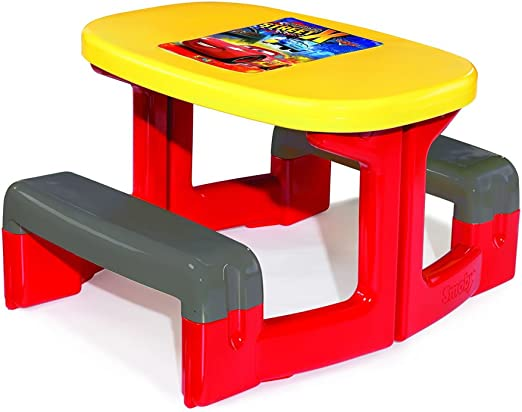 Enfant Empire Smoby Durable de Kids 2 Jardin Cars Table UqSMVzp