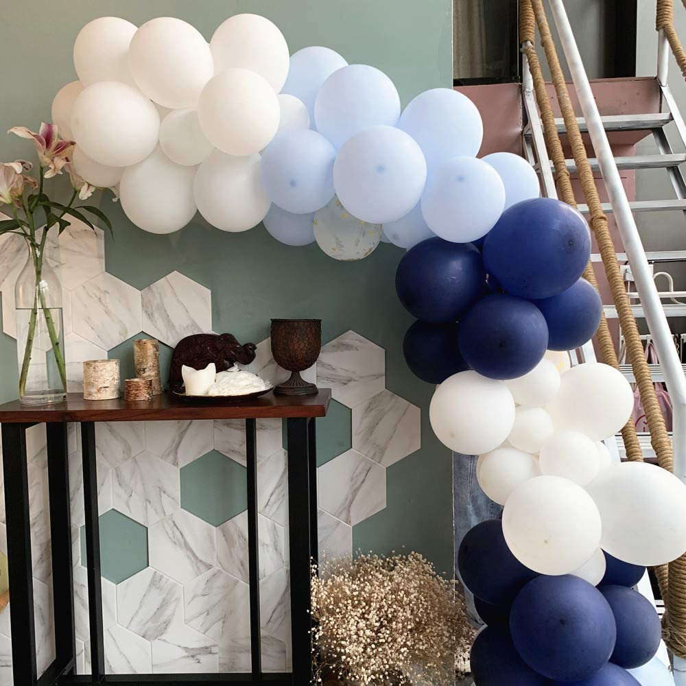 Globos Azules Arch Guirnalda Kit 106 Piezas Paquete de Globos de l/átex Azul Real para ni/ño Baby Shower Cumplea/ños Decoraciones para Fiestas de Boda