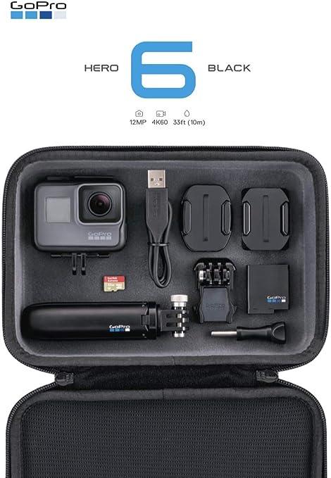 GoPro HERO6 - Cámara (Trípode Shorty, Estuche Accesorio y Micro SD de 32GB), Color Negro: Amazon.es: Electrónica