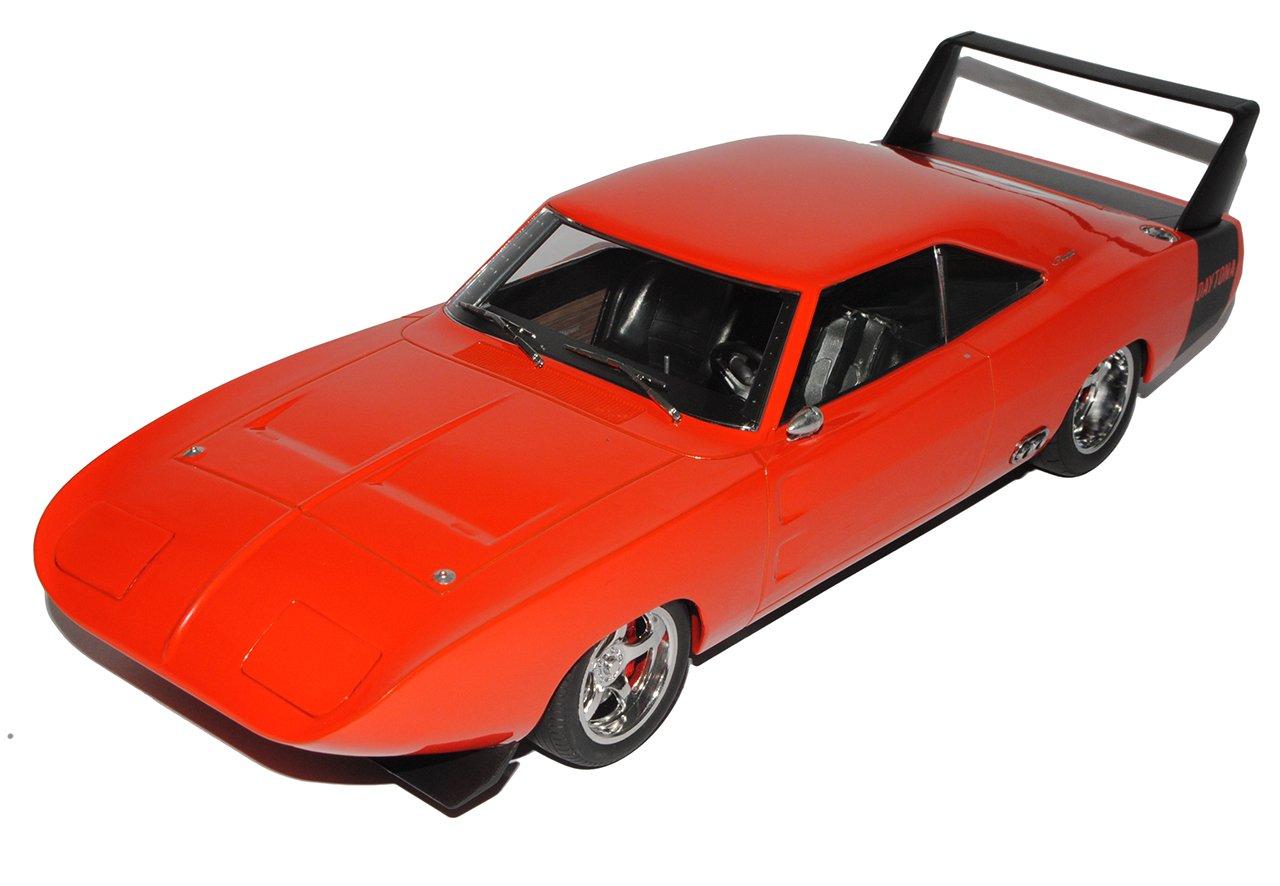 Grünlight Dodge Charger Daytona Rot Orange 1969 1/18 Modell Modell Modell Auto mit individiuellem Wunschkennzeichen 1b9f4c