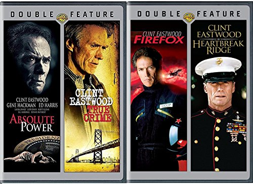 4 Classic Films of Clint Eastwood Heartbreak Ridge / Firefox + Absolute Power & True Crime Movie Collection Film Four Feature pack