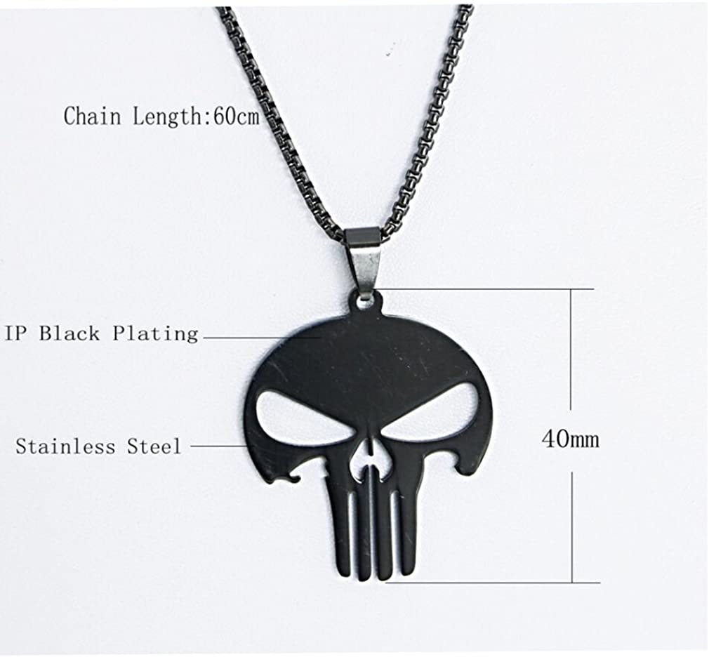 viStar Stainless Steel IP Black-plated /& CZ Cross Pendant Necklace