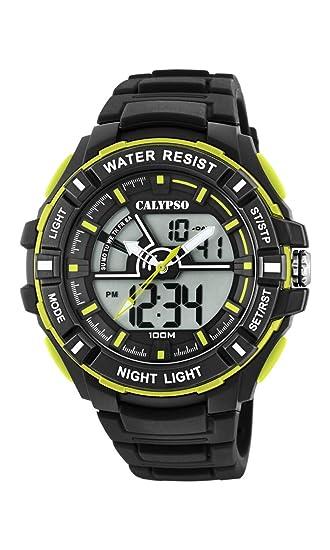 4dd97e77bdce Calypso Watches Reloj Analógico-Digital para Hombre de Cuarzo con Correa en  Plástico K5769 4  Amazon.es  Relojes