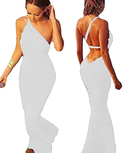 New2World Sexy Women Deep V Neck Backless Evening Party Club Maxi Dress