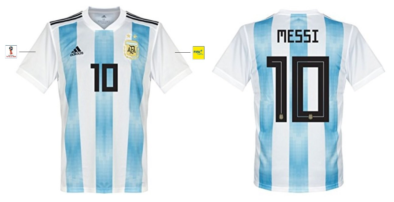 adidas group Trikot Herren Argentinien WM 2018 Home – Messi 10