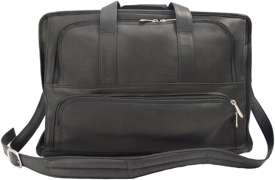 Black One Size Piel Leather Half-Moon Portfolio