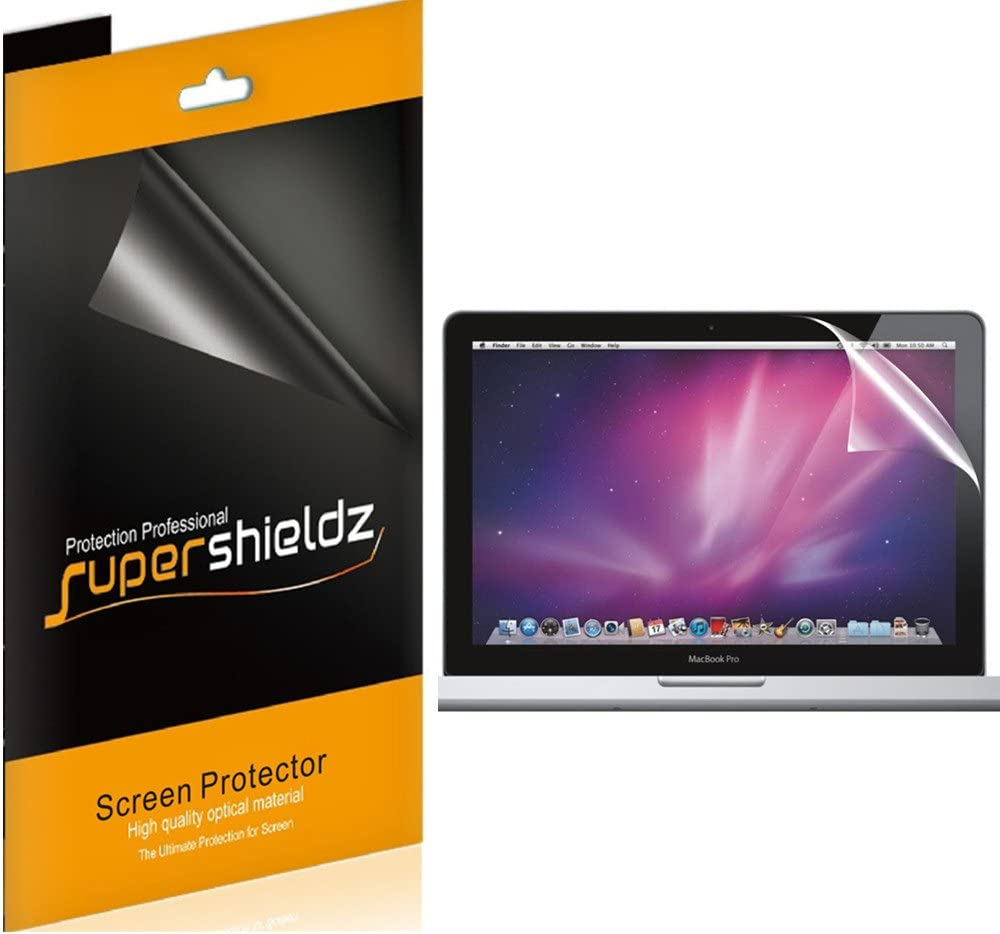 (3 Pack) Supershieldz for Apple MacBook Pro 13 inch with Retina Display (Late 2012 to Early 2015, Model A1425, A1502) Screen Protector, High Definition Clear Shield (PET)