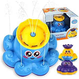 Bath Toy, Spray Water Octopus, Can Float Rotate with Fountain, willway Floating Bathtub Shower Pool Bathroom Toy for Baby Toddler Infant Kid Party, Water Pump Electronic Sprayer