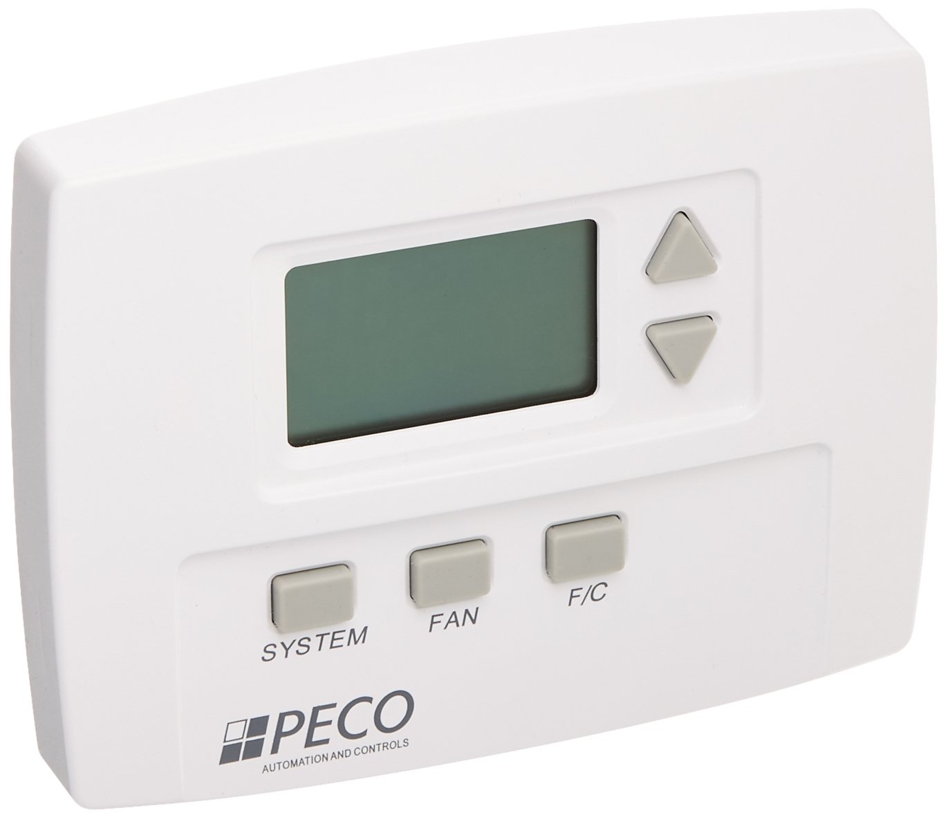 Peco TB170-001 3 Speed Staged Fan Non-Programmable Thermostat, Line Voltage, 1H/1C, White