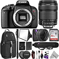 Canon EOS Rebel T7i DSLR Camera with 18-135mm Lens w/Advanced Photo and Travel Bundle