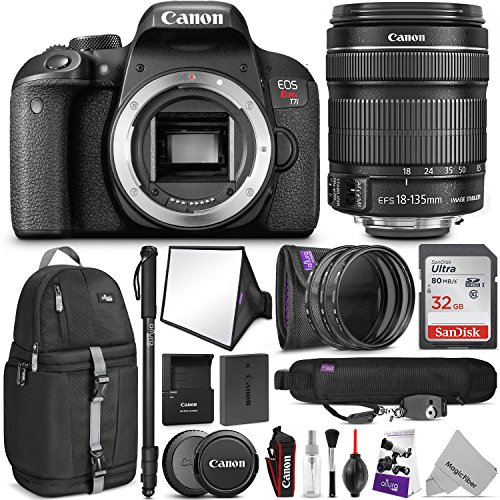 61uISgmhvYL - Canon EOS Rebel T7i DSLR Camera with 18-135mm Lens w/Advanced Photo and Travel Bundle