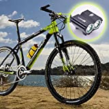 JED SolarStorm X2 2000-lumen Dual Head Bicycle light With 2 X CREE XM-L T6 LED.
