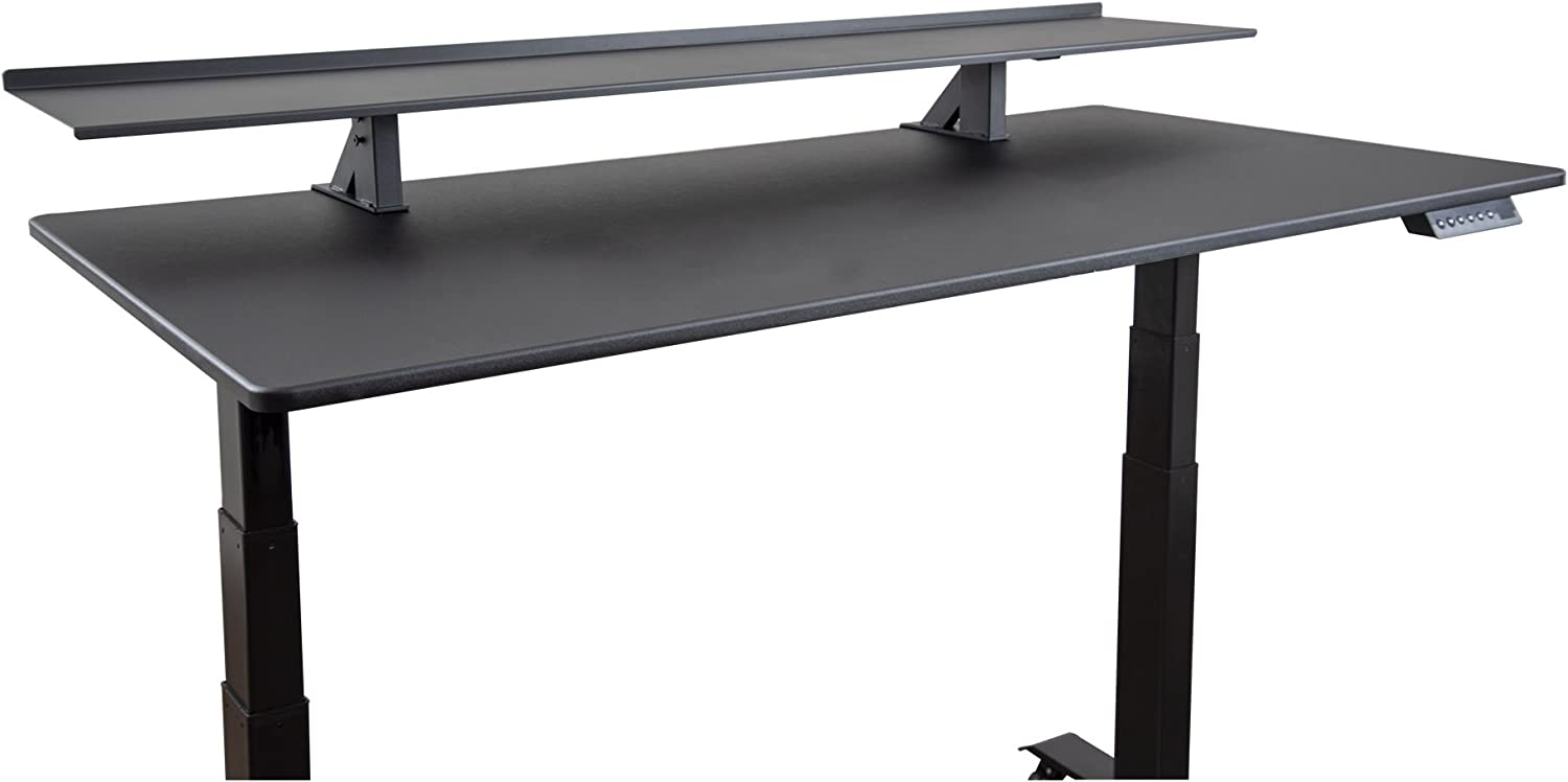 "Stand Up Desk Store 60"" Clamp-On Desk Shelf 
