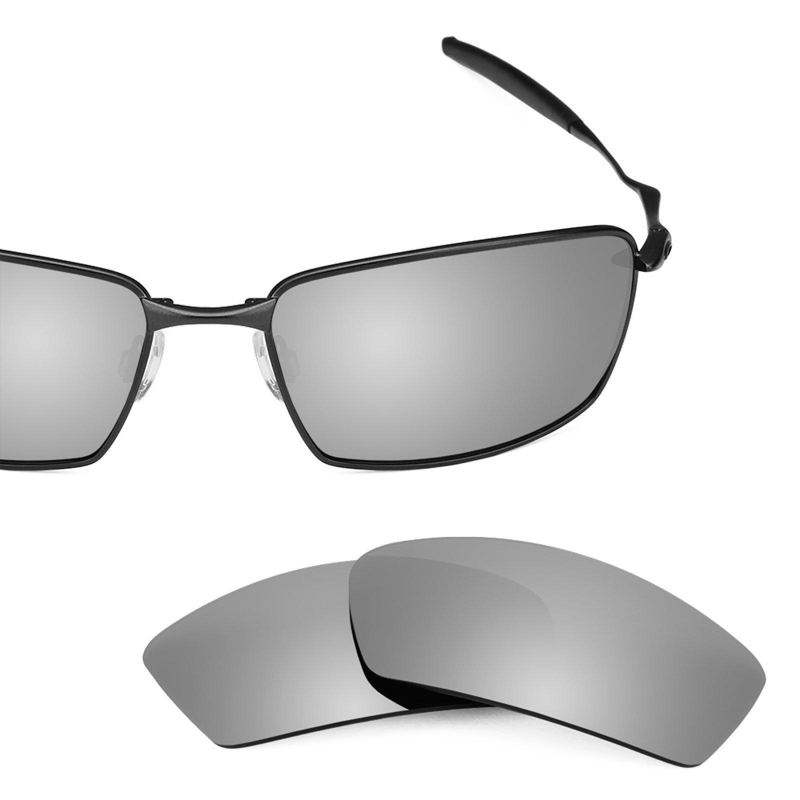Revant Polarized Replacement Lenses for Oakley Square Whisker Titanium MirrorShield